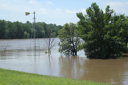 Flooding in Muscatine County, July 1 2014