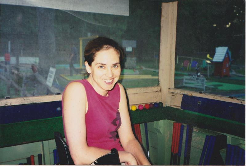 Melby pictured in the ticket booth in the 90s