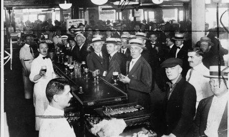 A bar on the eve of prohibition, 1919