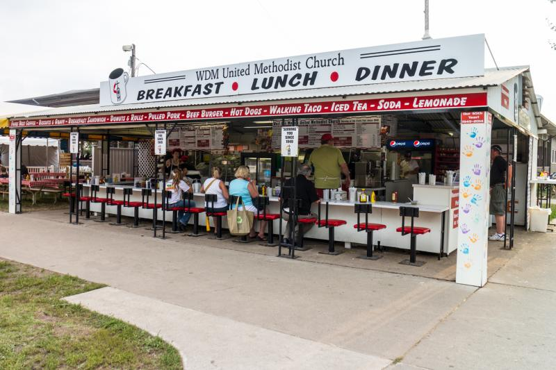 The West Des Moines United Methodist Church has been feeding hungry fairgoers at the Iowa State Fair since 1949.
