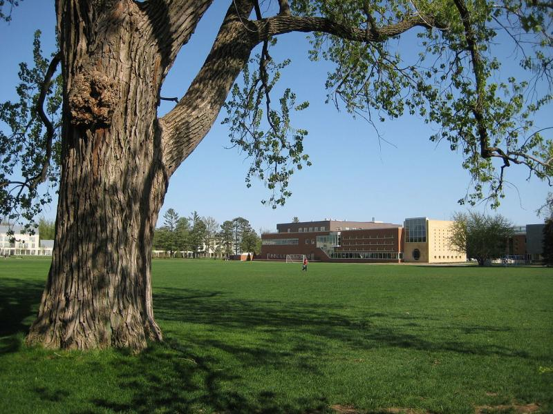 Grinnell College's MacEachron Field. The college implemented the MVP program on campus in 2012, first among student athletes.