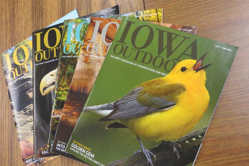Iowa Outdoors is printed every two months, with limited exposure online