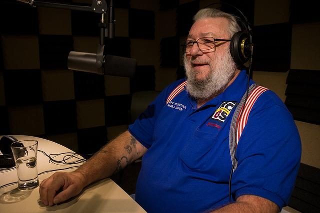 Kansas City Barbeque Society Master Judge Dave Compton in Iowa Public Radio's Des Moines studios