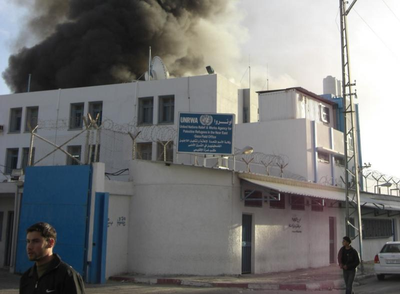Building shelled by the Israeli army in Gaza