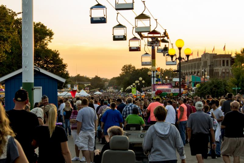 Grand concourse at the 2012 Iowa State Fair.