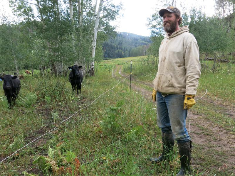 Josh Kilbane runs Yampa Valley Farms outside Steamboat Springs, Colo.