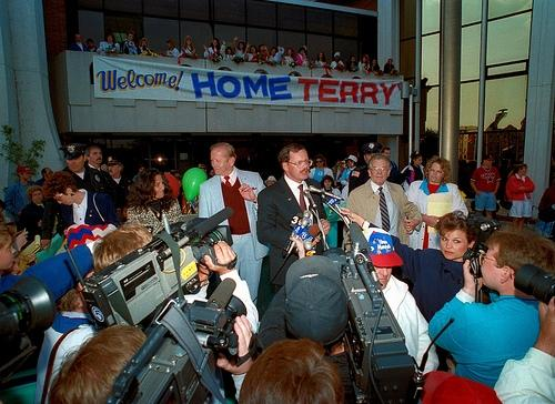 Terry Anderson, the former hostage in his birth place of Lorain Ohio, on June 21, 1992.