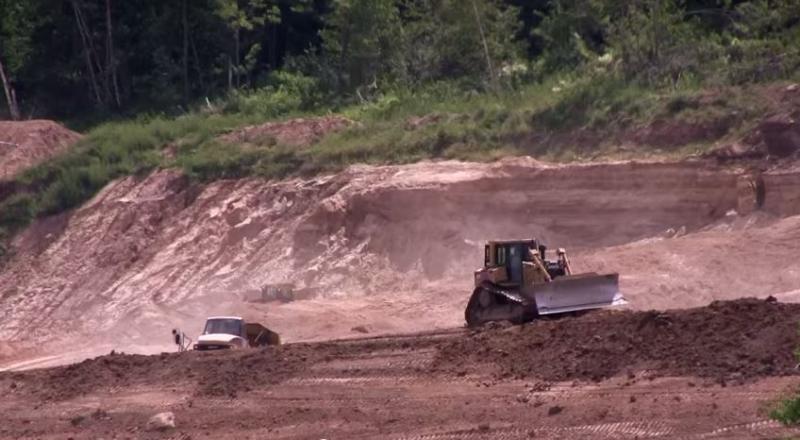 a silica sand mine