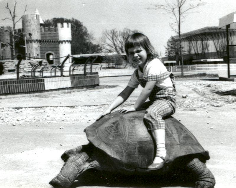 In younger years, Barnaby gave rides at the Des Moines Children's Zoo (circa 1960s)