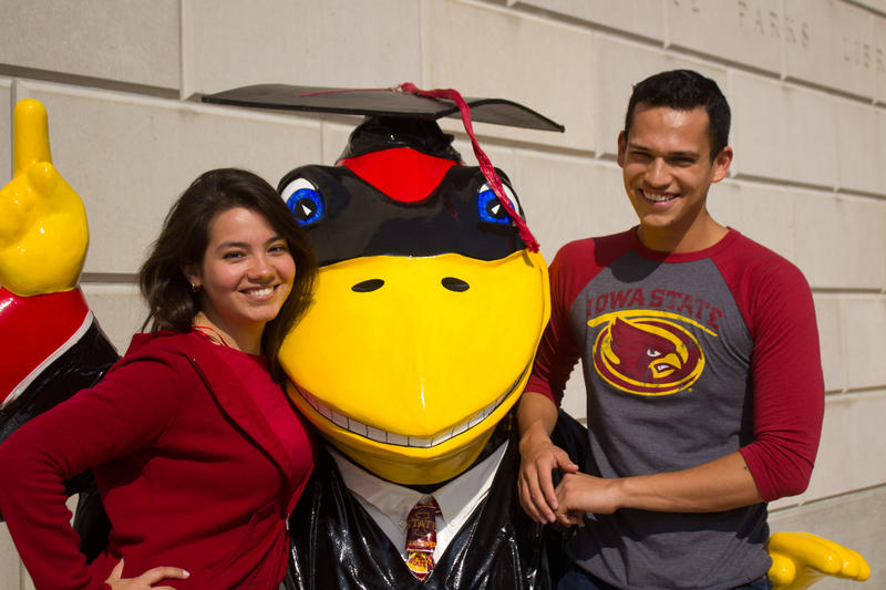 Cousins Christina Gonzalez and Brian Castro both chose majors in the College of Agriculture and Life Sciences at Iowa State University. They see opportunity in agriculture, though they understand why many Latino children of immigrants are not interested.