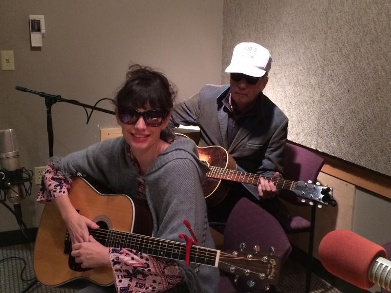 Pieta Brown with her collaborator Bo Ramsey in Iowa Public Radio's Iowa City studio