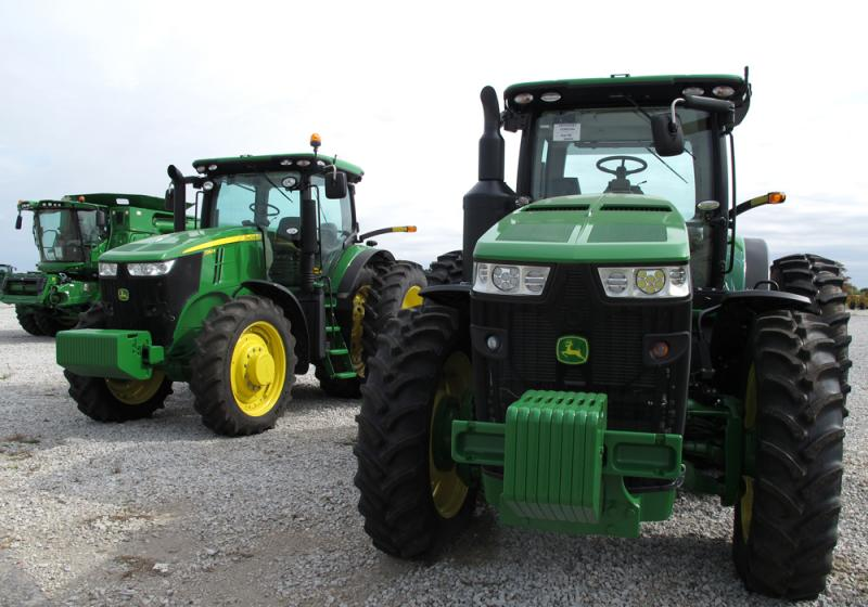 Farm machinery dealer Allen Troester says farmers are holding off on any big purchases until grain prices turn around.