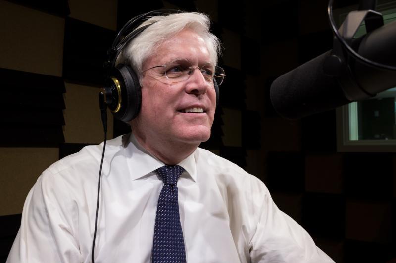 State Senator Jack Hatch in Iowa Public Radio's Des Moines studio