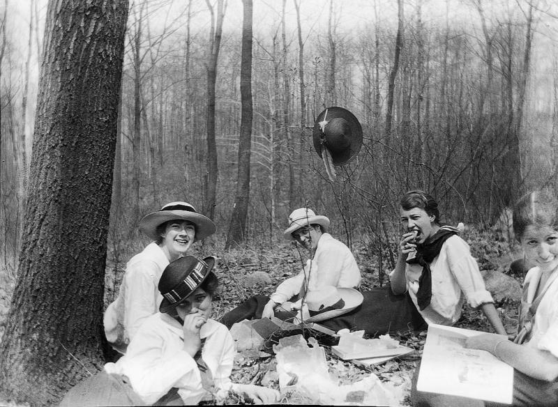 Picnic in the woods, from 1918