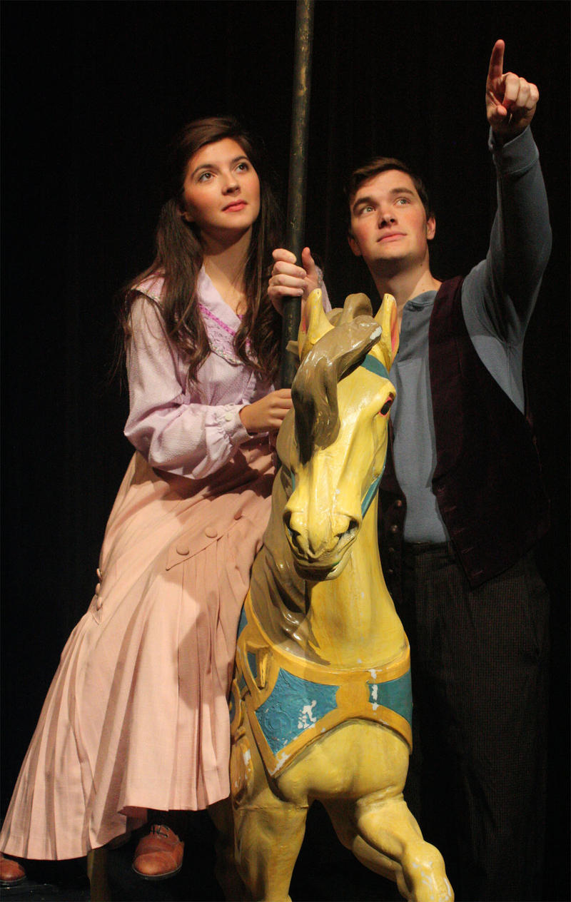 "Samantha Hornback as Julie and Ben Schaffer as Billy in Simpson College's production of Rodgers and Hammerstein's ""Carousel"""