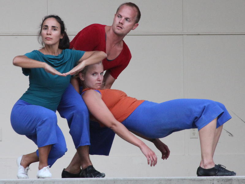 Dancers Silvina Lopez Barrera, Ben Rethmeier, and Elizabeth Ferreira