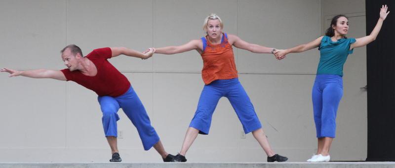 Dancers Ben Rethmeier, Elizabeth Ferreira, and Silvina Lopez Barrera