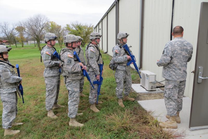 Combat life savers await their final exam