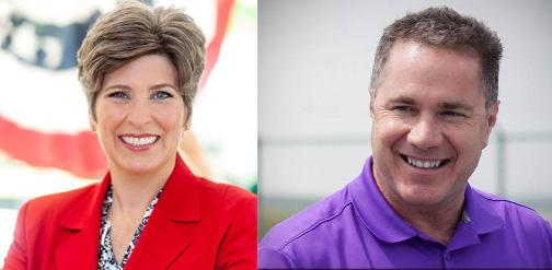 Ernst and Braley campaign Facebook pages.
