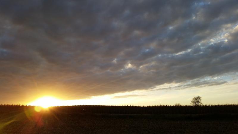An Iowa sunset