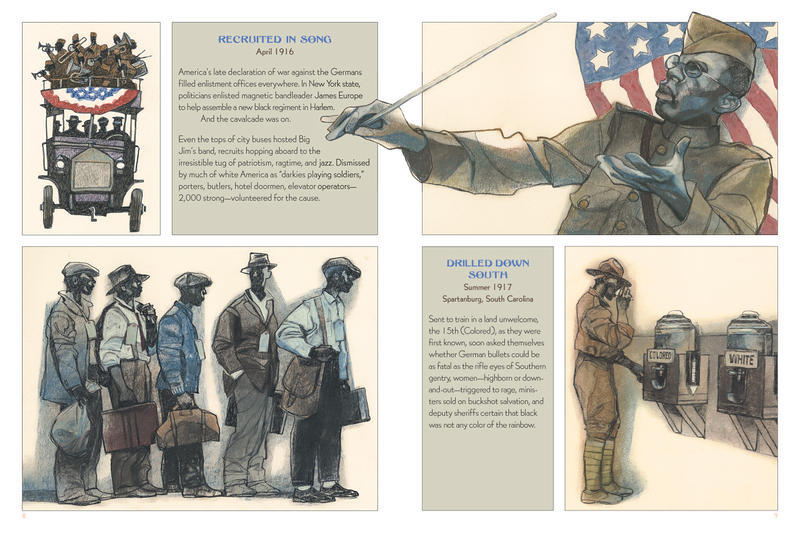 "A look inside the pages of ""Harlem Hellfighters"", illustrated by Cedar Falls artist Gary Kelley"