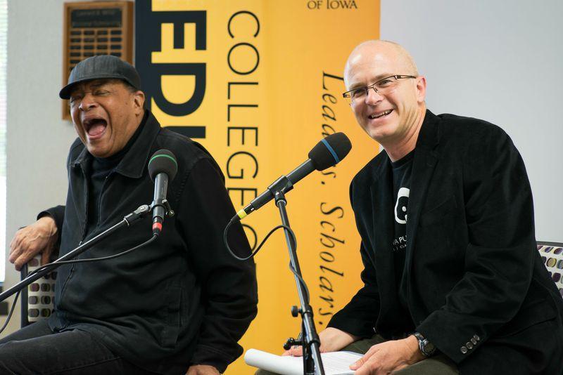 Ben Kieffer with Al Jarreau at the event