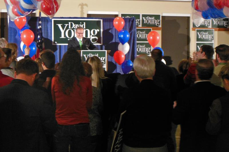 In a tight race, Republican David Young took the 3rd district.