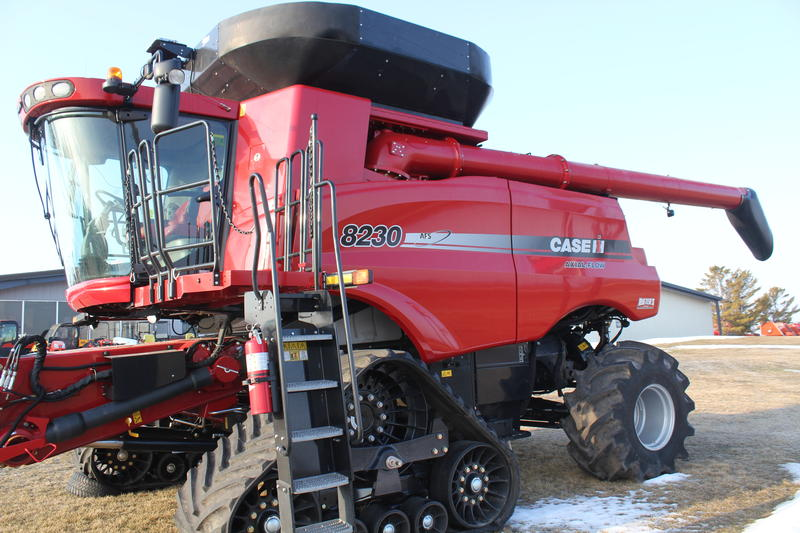 New machinery like this Case IH combine is more affordable when farmers can depreciate up to $500,000 in equipment expenses. But that tax provision has not yet been extended for 2014.