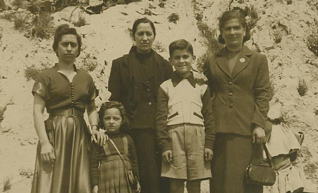 Charles Notis and his mother (right) soon after they escaped from Albania to Greece.