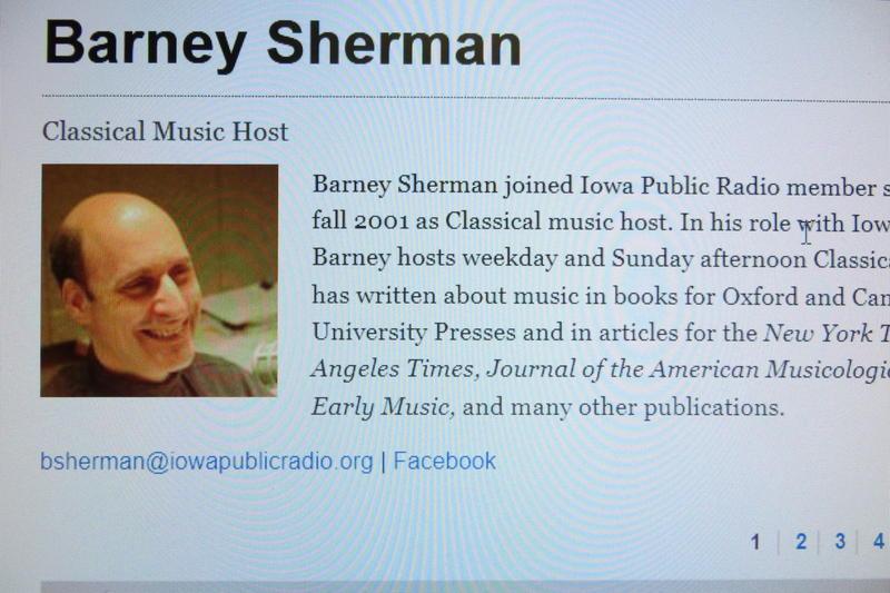 Classical music host Barney Sherman