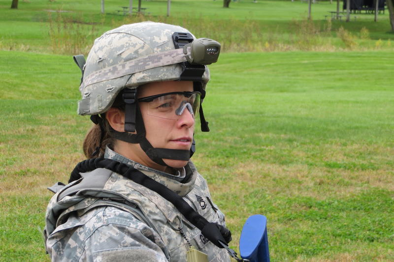 Woman soldier in Iowa National Guard