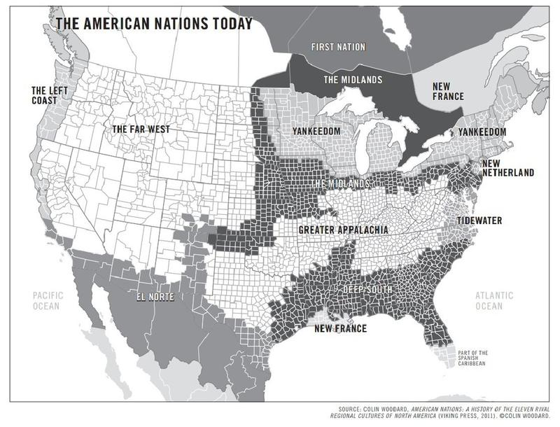 "Colin Woodard's 11 ""American Nations"""