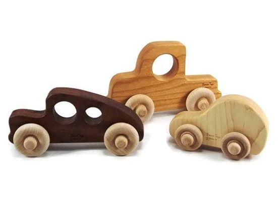 wooden trucks made by Bannor toys