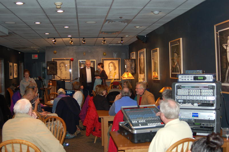 the audience at Iowa City's downtown Java House
