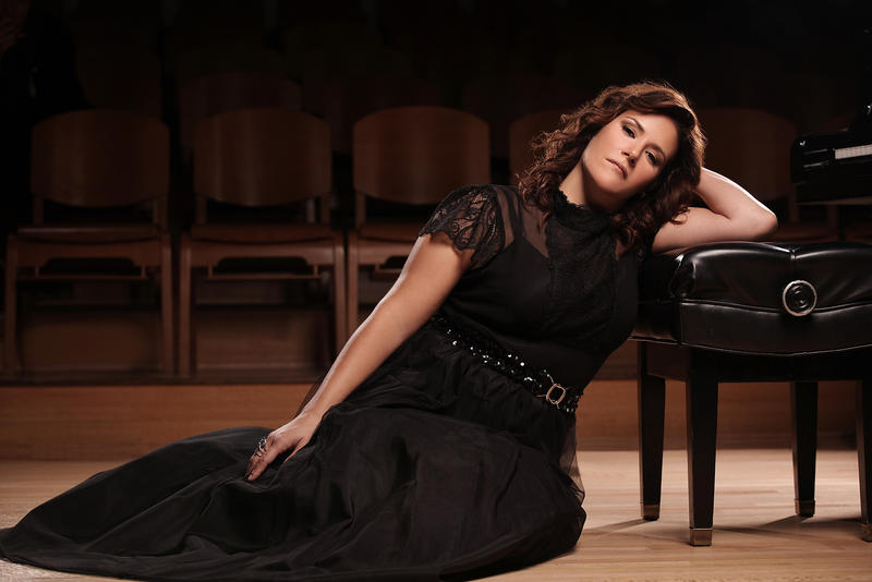 "Soprano Danielle Talamantes sings the role of Donna Anna in the CROT production of ""Don Giovanni"""