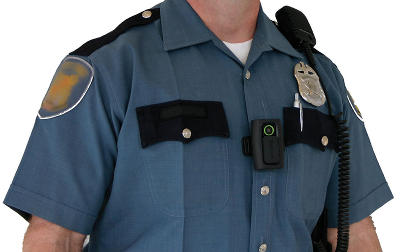 VIEVU is the brand of body camera worn by Clive police officers