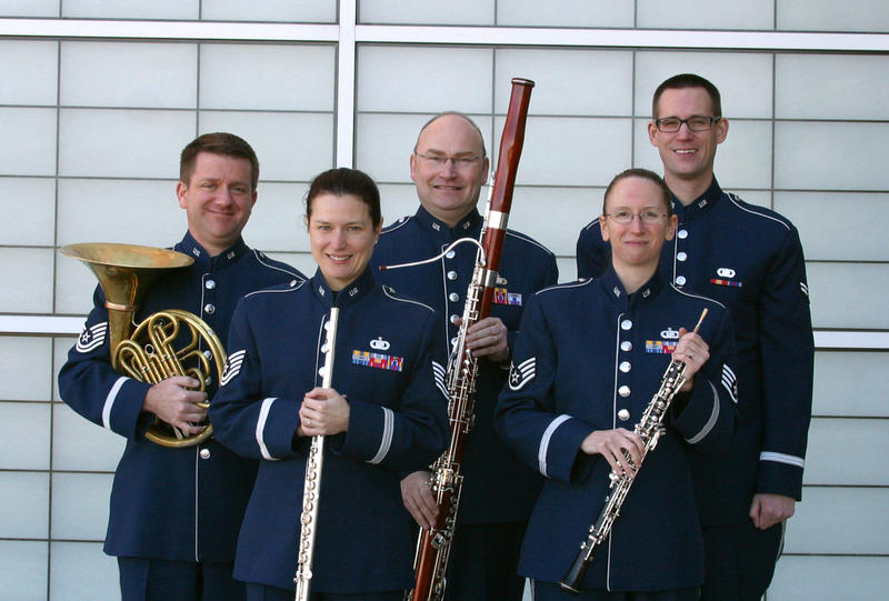 The Miwest Winds, a woodwind quintet from the U.S. Air Force Band of Mid-America
