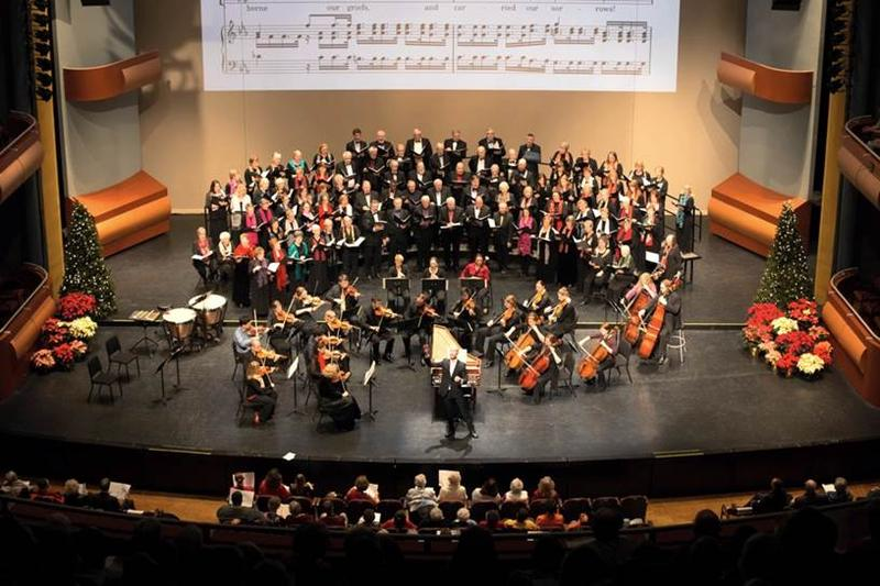 """Jason Weinberger, the wcfsymphony, and the Metropolitan prepare to perform selections from Handel's """"Messiah"""""""