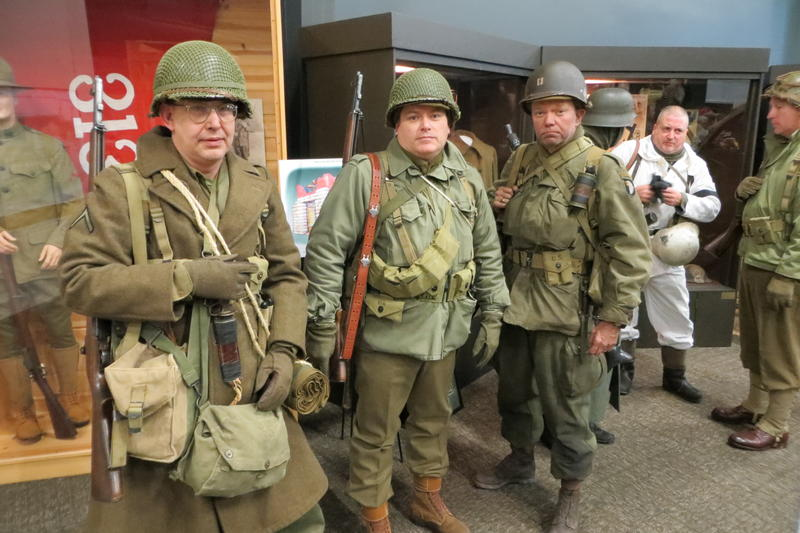 Uniforms and weapons from the Battle of the Bulge era