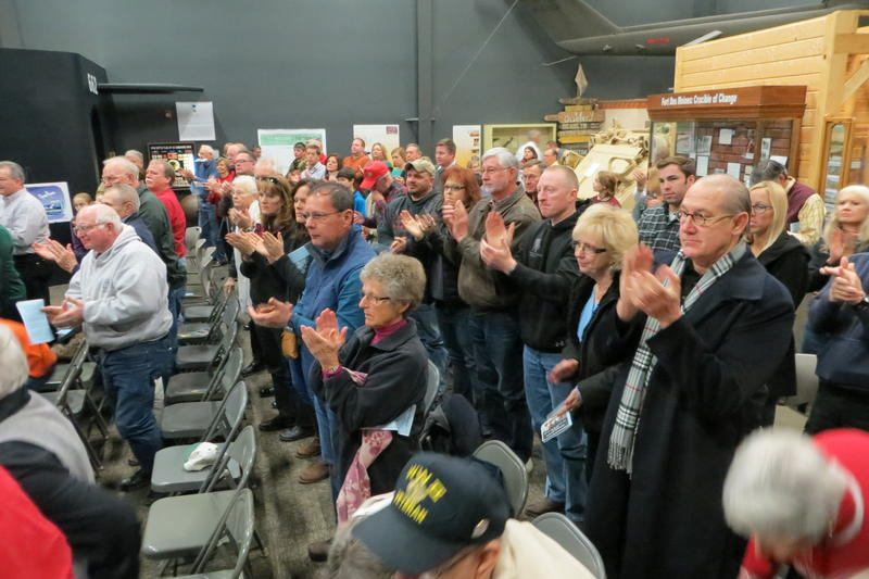 The old soldiers earned a standing ovation