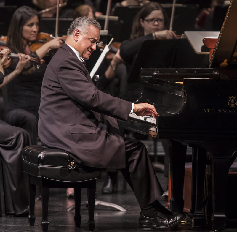 Internationally acclaimed pianist André Watts, who will perform at Sheslow Auditorium in Des Moines.