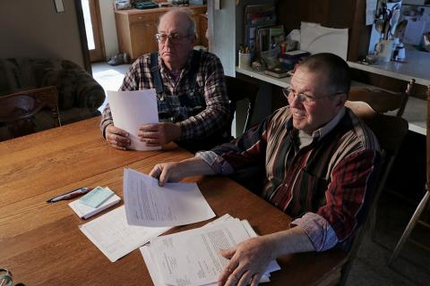 Fellow rancher Jim Dobbins, left, and Pfrang have lobbied from their ranches in Nemaha County, Kan., for changes in the beef checkoff program.