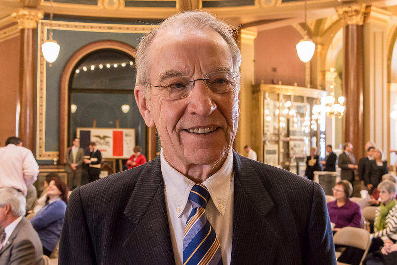 U.S. Senator Chuck Grassley during a visit in 2015 to his home state's Capitol in Des Moines.