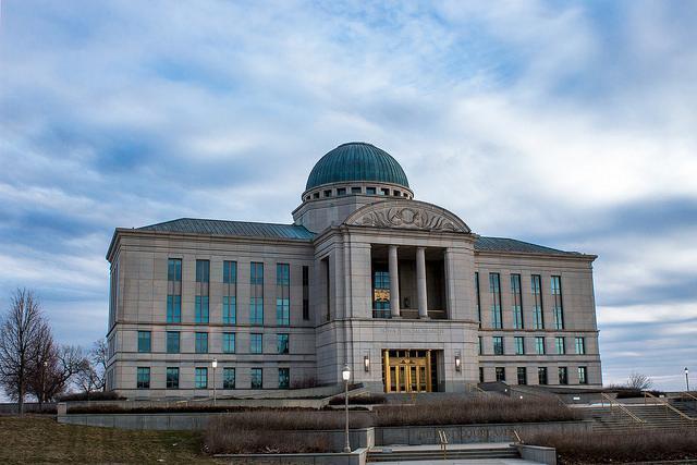 Iowa Judicial Branch Building in Des Moines, May 17, 2013.