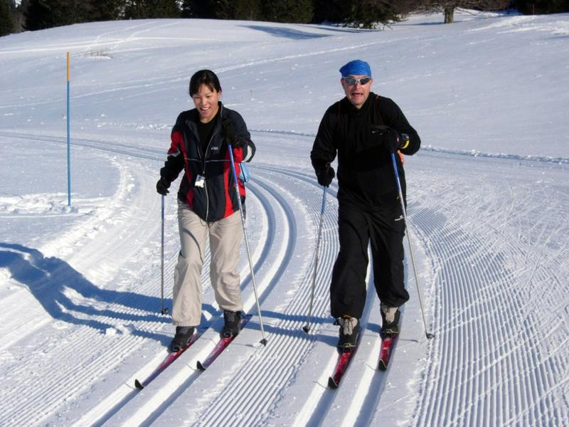 Cross-country is one popular winter activity in Iowa.
