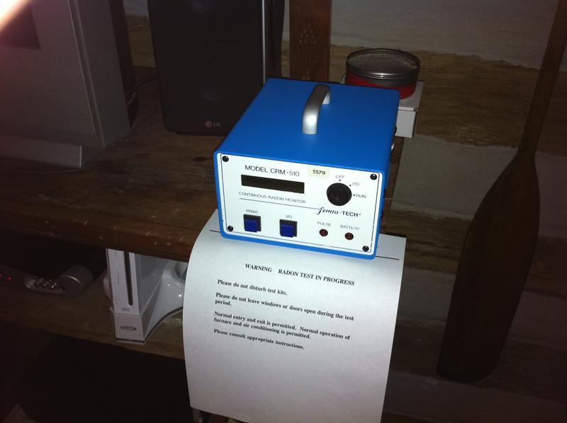 A radon testing kit