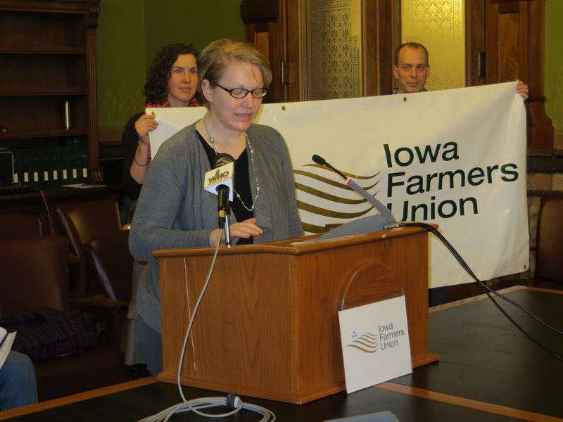 Farmers Union President Jana Linderman says more controls are necessary to prevent pesticides from reaching unintended fields.