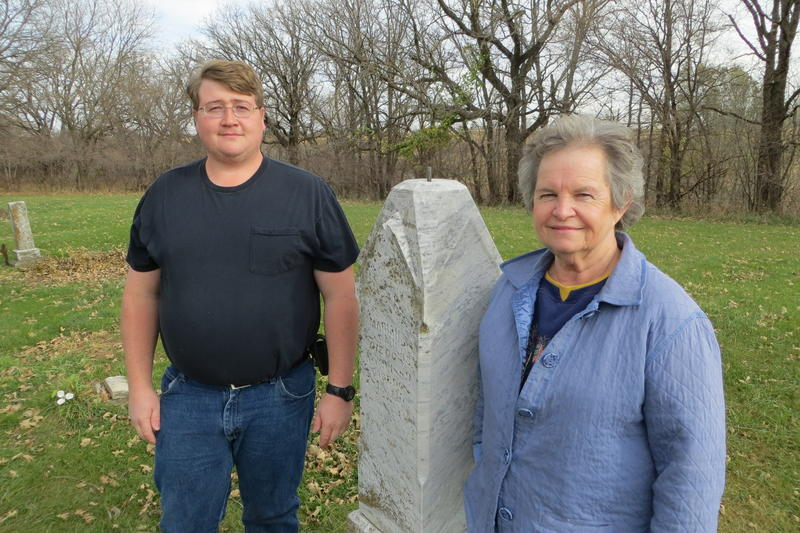 Jacob Harding and Judy Ehlers have been researching the cemetery's early years