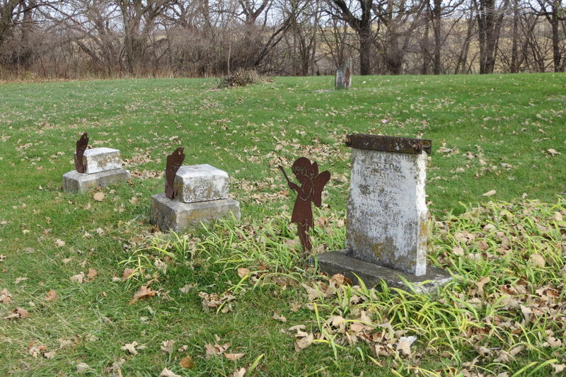 Only a few grave markers remain at South Jordan Cemetery, which dates back to 1882