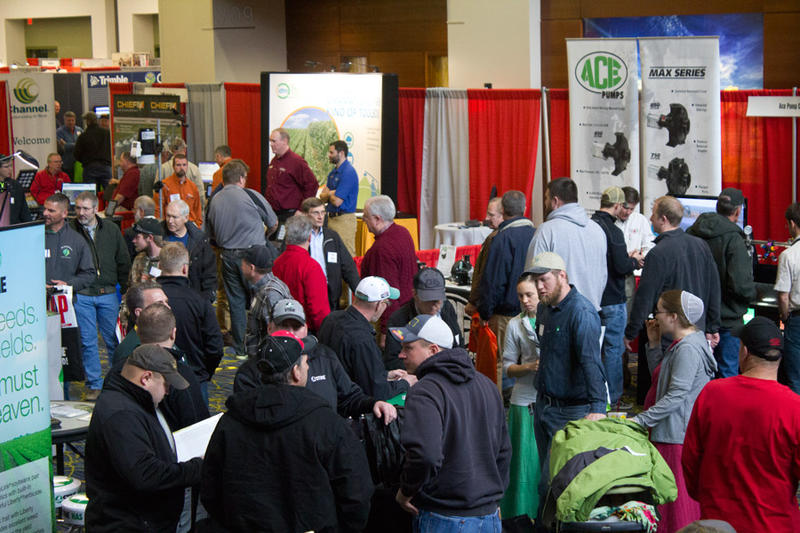 The Iowa Power Farming Show attracted more than 20,000 people to Des Moines last week. Many farmers there said they haven't decided yet which farm bill program to choose.